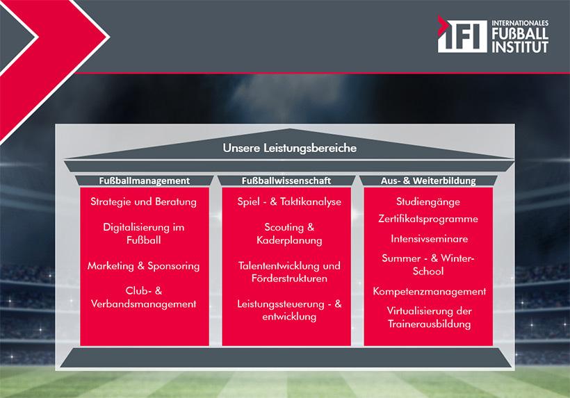 Darstellung der Leistungsbereiche des IFI